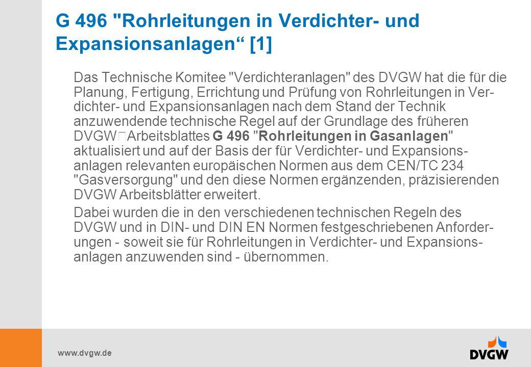 G 496 Rohrleitungen in Verdichter- und Expansionsanlagen [1]